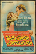 "Movie Posters:Hitchcock, Under Capricorn (Warner Brothers, 1949). Argentinean Poster (29"" X43""). Hitchcock.. ..."