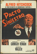 "Movie Posters:Hitchcock, Strangers on a Train (Warner Brothers, 1951). Argentinean Poster(29"" X 43""). Hitchcock.. ..."