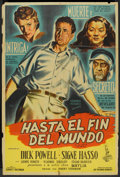 "Movie Posters:Adventure, To the Ends of the Earth (Columbia, 1948). Argentinean Poster (29""X 43""). Adventure.. ..."