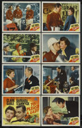 """Movie Posters:Adventure, To Please a Lady (MGM, 1950). Lobby Card Set of 8 (11"""" X 14"""").Adventure. Starring Clark Gable, Barbara Stanwyck, Adolphe Me...(Total: 8)"""