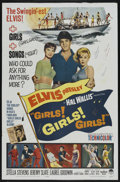 "Movie Posters:Elvis Presley, Girls! Girls! Girls! (Paramount, 1962). One Sheet (27"" X 41"").Elvis Presley. Starring Elvis Presley, Stella Stevens, Jeremy..."