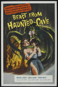 "Movie Posters:Science Fiction, Beast from Haunted Cave (Film Group, 1959). One Sheet (27"" X 41"").Science Fiction. Starring Michael Forest, Sheila Carol, F..."