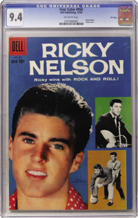 Four Color #956 Ricky Nelson - File Copy (Dell, 1958) CGC NM 9.4 Off-white pages