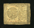 Colonial Notes:Continental Congress Issues, Continental Currency September 26, 1778 $40 Extremely Fine....