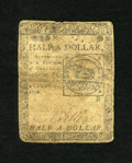 Colonial Notes:Continental Congress Issues, Continental Currency February 17, 1776 $1/2 Very Good....