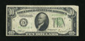 Error Notes:Obstruction Errors, Fr. 2006-D $10 1934A Federal Reserve Note. Very Fine....