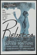 """Movie Posters:Hitchcock, Rebecca (United Artists, R-1960s). One Sheet (27"""" X 41""""). Hitchcock. Starring Laurence Olivier, Joan Fontaine, Judith Anders..."""