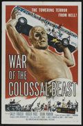 """Movie Posters:Science Fiction, War of the Colossal Beast (American International, 1958). One Sheet(27"""" X 41""""). Science Fiction. Starring Duncan 'Dean' Pa..."""