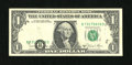 Error Notes:Miscellaneous Errors, Fr. 1912-B $1 1981A Federal Reserve Note. About Uncirculated....