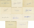 "Autographs:Index Cards, Massive Collection of Signed Index Cards Lot of 200. Here we offera horde of 200 signed 3x5"" index cards, all from vintage..."