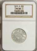 Barber Quarters, 1915-S 25C MS66 NGC....