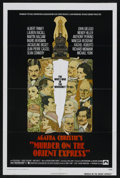 """Movie Posters:Mystery, Murder on the Orient Express (Paramount, 1974). One Sheet (27"""" X41""""). Mystery. Starring Albert Finney, Lauren Bacall, Marti..."""