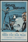 "Movie Posters:Crime, Seven Thieves (20th Century Fox, 1959). One Sheet (27"" X 41""). Crime. Starring Edward G. Robinson, Rod Steiger, Joan Collins..."