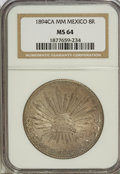 Mexico, Mexico: Republic Cap and Rays 8 Reales 1894Ca-MM,...