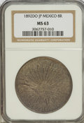 Mexico, Mexico: Republic Cap and Rays 8 Reales 1892Do-JP,...
