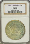 Mexico, Mexico: Republic Cap and Rays 8 Reales 1896Go-RS,...