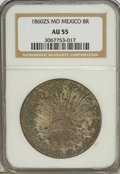 Mexico, Mexico: Republic Cap and Rays 8 Reales 1860Zs-MO,...