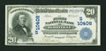 National Bank Notes:Arkansas, Berryville, AR - $20 1902 Date Back Fr. 648 The First NB Ch. # (S)10406. ...