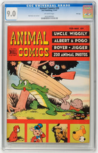 Animal Comics #25 File Copy (Dell, 1947) CGC VF/NM 9.0 Off-white pages
