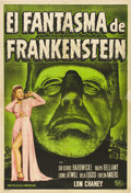 "Movie Posters:Horror, The Ghost of Frankenstein (Universal, R-1940s). Argentinean Poster (29"" X 43"").. ..."