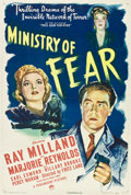 """Movie Posters:Film Noir, Ministry of Fear (Paramount, 1944). One Sheet (27"""" X 41"""").. ..."""