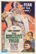 "Movie Posters:Horror, The Mummy's Tomb (Realart, R-1949). One Sheet (27"" X 41"").. ..."