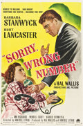 """Movie Posters:Film Noir, Sorry, Wrong Number (Paramount, 1948). One Sheet (27"""" X 41"""").. ..."""