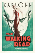 "Movie Posters:Horror, The Walking Dead (Warner Brothers, R-1942). One Sheet (27"" X 41"")....."