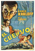 "Movie Posters:Horror, The Raven (Universal, 1935). Argentinean Poster (29.5"" X 43.5"")....."