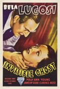 """Movie Posters:Horror, Invisible Ghost (Astor, R-1949). One Sheet (27"""" X 41"""").. ..."""
