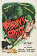 "Movie Posters:Horror, The Mummy's Ghost (Realart, R-1951). One Sheet (27"" X 41"").. ..."
