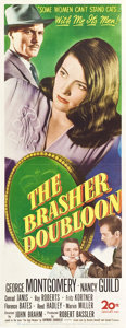 "Movie Posters:Crime, The Brasher Doubloon (20th Century Fox, 1946). Insert (14"" X 36"")....."