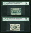 Fractional Currency:First Issue, Fr. 1313SP 50c First Issue Narrow Margin Pair PMG Choice About Unc 58/Choice Uncirculated 63.... (Total: 2 notes)