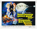 "Movie Posters:James Bond, Diamonds are Forever (United Artists, 1971). Half Sheet (22"" X28"").. ..."