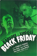 "Movie Posters:Horror, Black Friday (Universal, 1940). Pressbook (11.5"" X 17.5"").. ..."