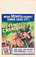 "Movie Posters:Horror, Revenge of the Creature (Universal International, 1955). Window Card (14"" X 22"") 3-D Style.. ..."
