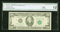 Error Notes:Ink Smears, Fr. 2076-E $20 1988A Federal Reserve Note. CGA Fine 12.. ...