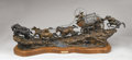 Sculpture, DANNY D. EDWARDS (American, b. 1947). Run to Silver City, 1991. Bronze with patina and paint. 25 x 62 x 10 inches (63.5 ...