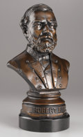 Sculpture, FREDERICK VOLCK (American, 1833-1891). Robert E. Lee, 1863. Bronze with patina. 21 x 11 x 8 inches (53.3 x 27.9 x 20.3 c...