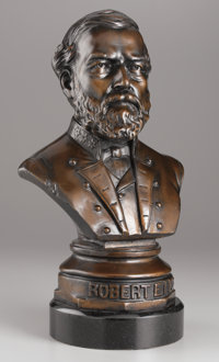 FREDERICK VOLCK (American, 1833-1891) Robert E. Lee, 1863 Bronze with patina 21 x 11 x 8 inches (