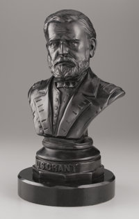 FREDERICK VOLCK (American, 1833-1891) U.S. Grant, 1869 Bronze with patina 20 x 12 x 10 inches (50
