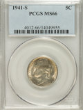 Jefferson Nickels: , 1941-S 5C MS66 PCGS. PCGS Population (154/1). NGC Census: (66/83).Mintage: 43,445,000. Numismedia Wsl. Price for NGC/PCGS ...