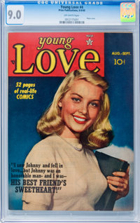 Young Love #4 (Prize, 1949) CGC VF/NM 9.0 Off-white pages