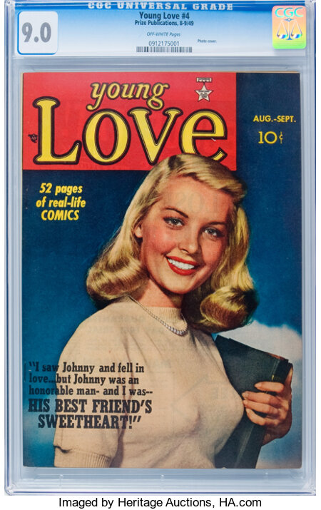 Young Love #4 (Prize, 1949) CGC VF/NM 9.0 Off-white pages....