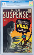 Silver Age (1956-1969):Science Fiction, Tales of Suspense #18 (Marvel, 1961) CGC VF 8.0 Off-white to whitepages....