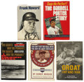Autographs:Others, Baseball Stars Signed Books Lot of 5. ... (Total: 5 items)