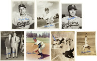 Pee Wee Reese Signed Items Lot of 16
