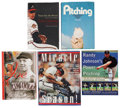 Autographs:Others, Baseball Star Pitchers Signed Books Lot of 5. ... (Total: 5 items)