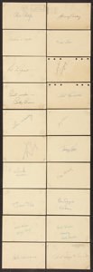 Autographs:Photos, Baseball Signed Government Postcards Lot of 35. ...