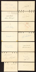 Autographs:Post Cards, Baseball Hall of Famers Signed Government Postcards Lot of 14. ...